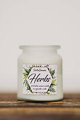 Vonná sviečka zo sójového vosku v skle - Herbs - 250g/70hod