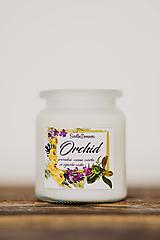 AKCIA - Vonná sviečka zo sójového vosku v skle - Orchid - 250g/70hod
