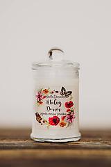 Svietidlá a sviečky - Sviečka zo sójového vosku v skle - Útulný Domov - 10507097_