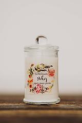 Sviečka zo sójového vosku v skle - Pokoj