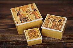 Krabičky - Sada drevených krabičiek - Egypt - 10507209_