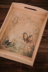 Nádoby - Drevená tácka - Veľká - Birdie Darling - 10507244_