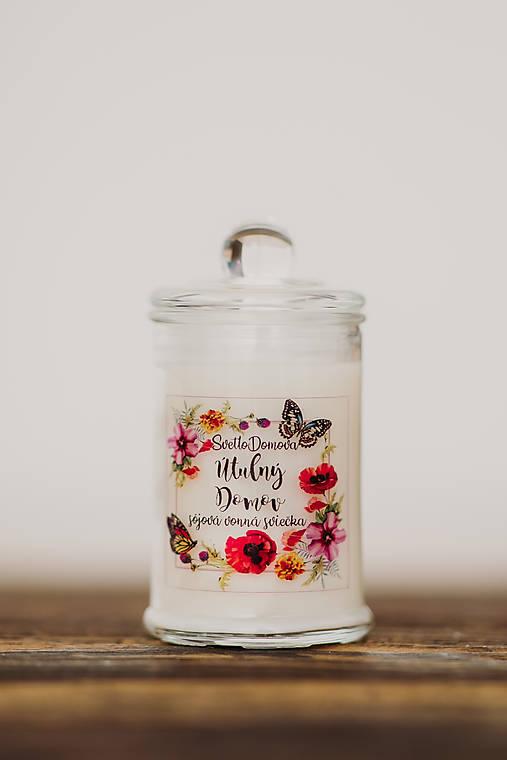 Sviečka zo sójového vosku v skle - Útulný Domov