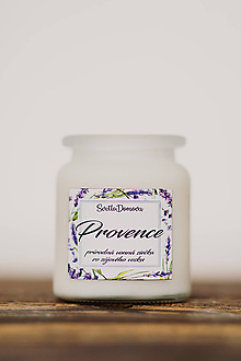 Svietidlá a sviečky - Vonná sviečka zo sójového vosku v skle - Provence - 250g/70hod - 10506877_