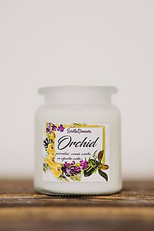 Svietidlá a sviečky - Vonná sviečka zo sójového vosku v skle - Orchid - 250g/70hod - 10506882_