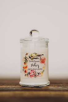 Svietidlá a sviečky - Sviečka zo sójového vosku v skle - Pokoj - 10507109_