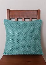Úžitkový textil - Mentolovo-modrý vankúš - 10504564_
