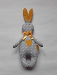 Hračky - Zajac - hračka - červená (Žltá) - 10506975_