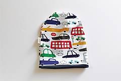 "Detské čiapky - Dvojvrstvová čiapka ""happy cars"" posledné kusy! - 10506232_"