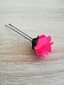 Ozdoby do vlasov - Vlásenka Kvet (Ružová) - 10506330_