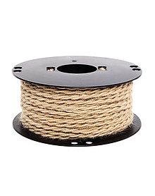 Komponenty - Kábel dvojžilový v podobe retro lana, juta, 2 x 0.75mm, 1 meter - 10503797_
