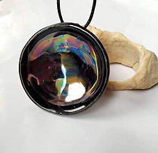 Náhrdelníky - Keramický šperk z kolekcie V KRUHU - dúhový - 10506629_