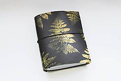 Papiernictvo - Kožený zápisník papraď - 10505734_