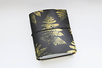 Papiernictvo - Kožený zápisník papraď (A5) - 10505734_