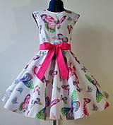 Detské oblečenie - Detské retro šaty 134-146 - 10505564_