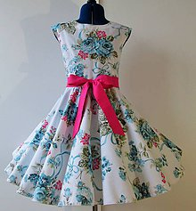 6e303135bd40 Detské oblečenie - Detské retro šaty 134-146 - 10505584
