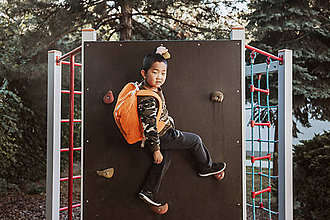 Detské tašky - nosha do školy - pomaranč natural - 10507191_