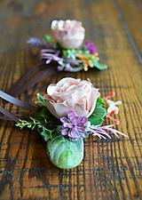 Ozdoby do vlasov - Sponky vintage ružičky - 10505703_