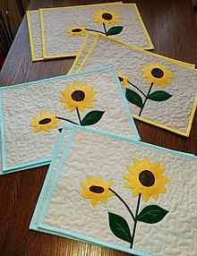 Úžitkový textil - Slnečnicové prestieranie na stôl - 10507585_
