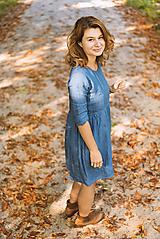 Šaty - miljö ľanové šaty - fika - 10507675_