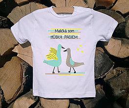 Detské oblečenie - Detské tričko - Húsky - 10506017_