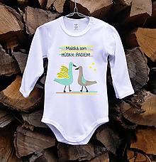 Detské oblečenie - Detské body - Húsky - 10506047_