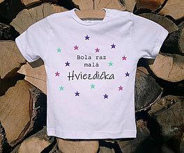 Detské oblečenie - Detské tričko - Hviezdička - 10506127_