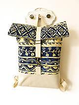 - Rolltop batoh modrá maľba - 10507526_