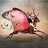 Papier - jeleň s krídlami - 10504379_