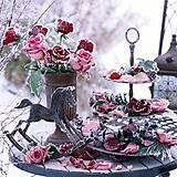 Papier - ľadové ruže - 10504464_