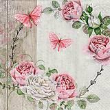 Papier - ruže - 10504492_
