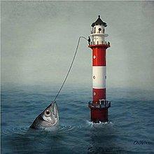 Papier - maják a ryba - 10504396_
