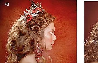 "Ozdoby do vlasov - Svadobná korunka ""lupene makov"" - 10504702_"