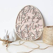 """Dekorácie - Vajíčko """"Happy Easter"""" ružové - 10504938_"""
