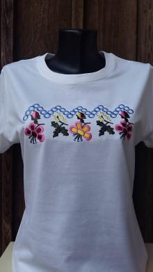 Tričká - tričko s folklórnym motívom - 10506720_