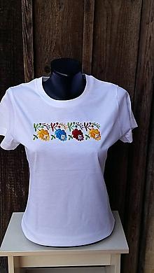 Tričká - tričko s folklórnym motívom - 10506782_