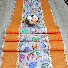 Úžitkový textil - JARMILA - veľkonočný obrus stredový 170x40 - 10506489_