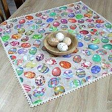 Úžitkový textil - JARMILA - štvorcový veľkonočný obrus 65X65 - 10506945_