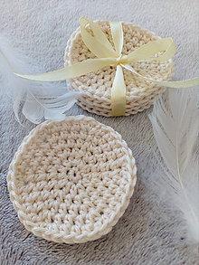 Úžitkový textil - Odličovacie tampóny (Béžová) - 10505226_