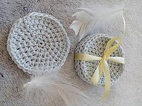 Úžitkový textil - Odličovacie tampóny (Šedá) - 10505229_