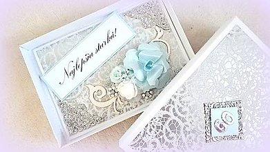 Papiernictvo - Blue rose - 10504833_