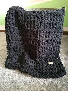Textil - Deka elegantná čierna - 10504527_