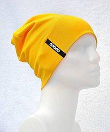 Detské čiapky - Čiapka Elastic žltá s menom - 10504062_