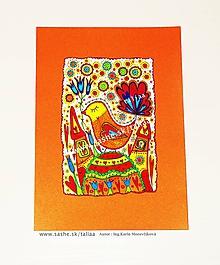 Kresby - VTÁČIK - maľovaný obrázok - 10505054_
