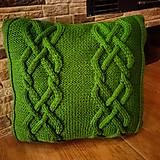 Úžitkový textil - Ručne pletený vankúšik - 10504884_