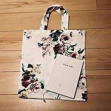 Taštičky - Zero waste darčeková taška - Ruže - 10507894_