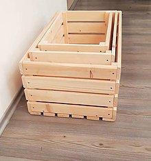 Nábytok - Sada drevených debničiek - 10507316_