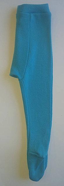 Detské oblečenie - Poldupačky merino pre bábätko  (0 - 3 mesiace - Tyrkysová) - 10504614_