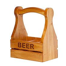 Košíky - Drevený košík - Beer - 10504558_