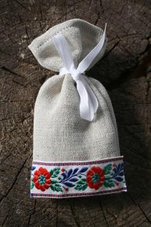 Darčeky pre svadobčanov - Levanduľové vrecúško - 10505416_